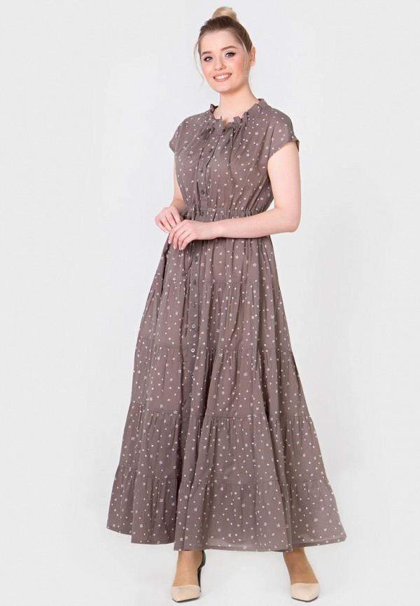 Фото - Женское платье Filigrana коричневого цвета