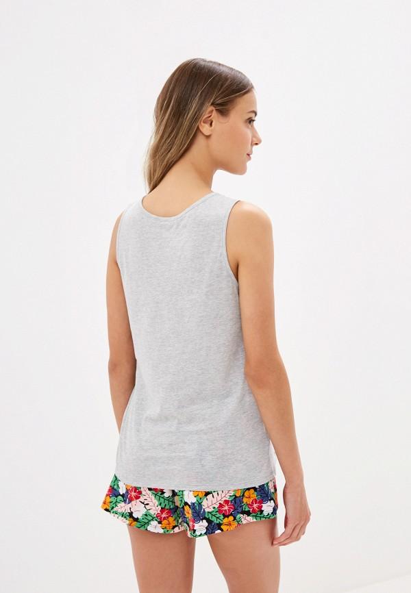 Фото 3 - Женский халат или пижаму Tezenis серого цвета