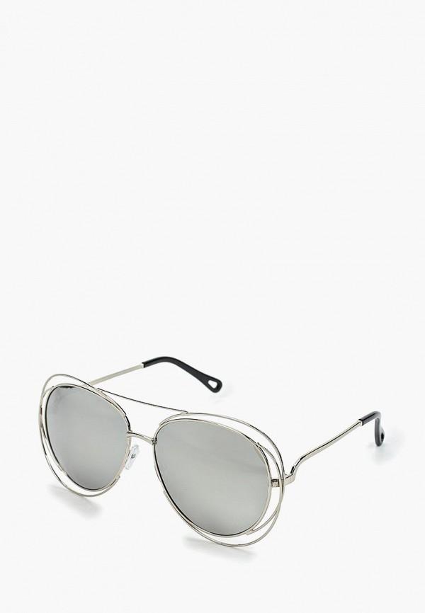 женские солнцезащитные очки wow miami, серебряные