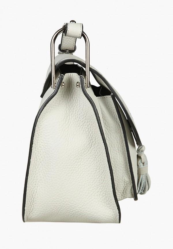Фото 2 - Женскую сумку Sergio Belotti белого цвета