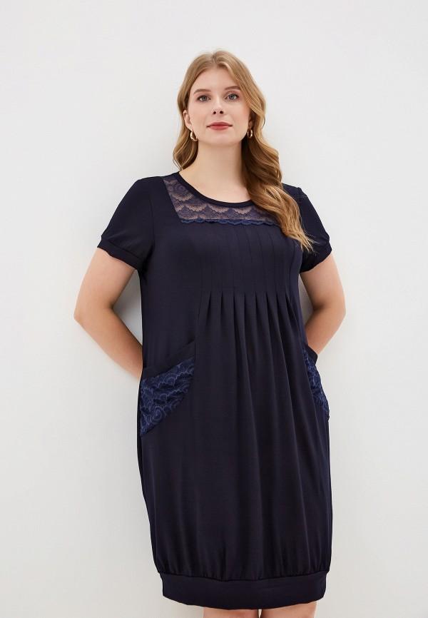 женское платье весталия, синее