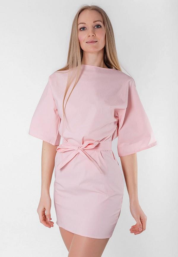 женское повседневные платье подіум, розовое
