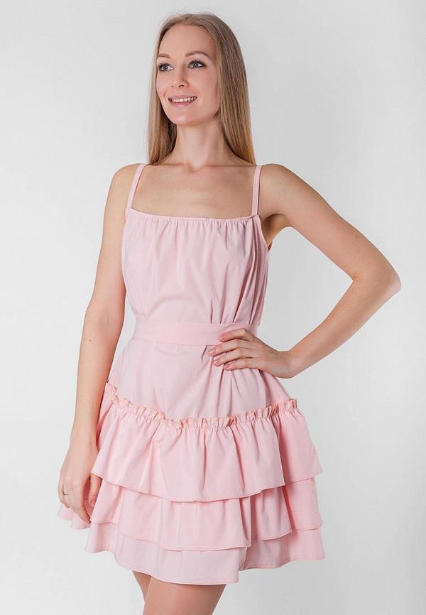 женский сарафан подіум, розовый