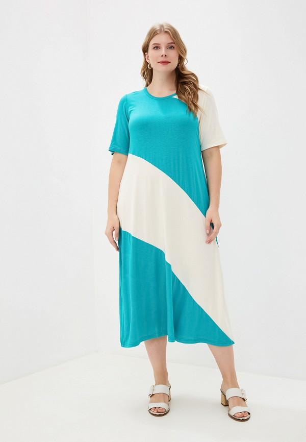 женское платье весталия, бирюзовое