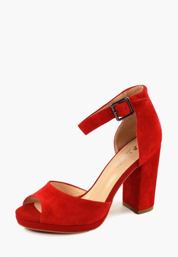 женские босоножки it-girl, красные