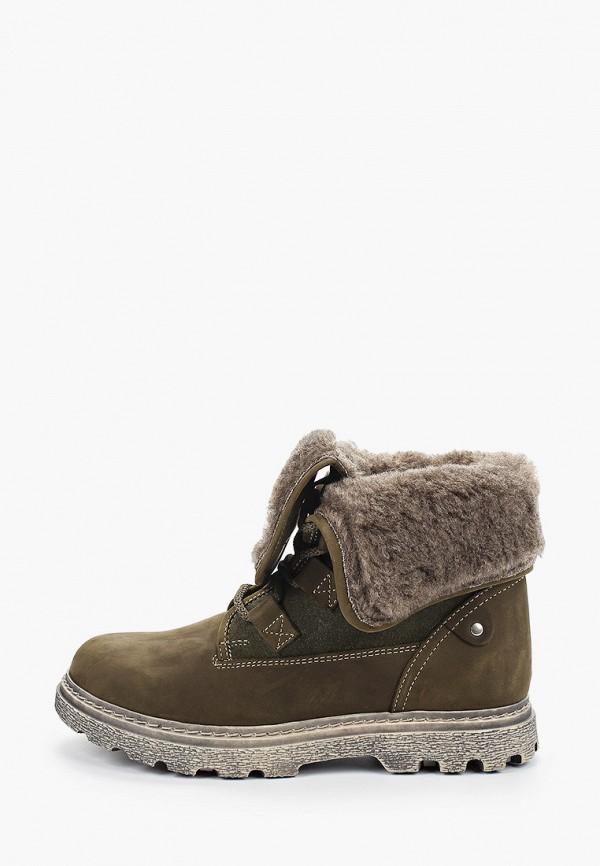 женские высокие ботинки shoiberg, хаки