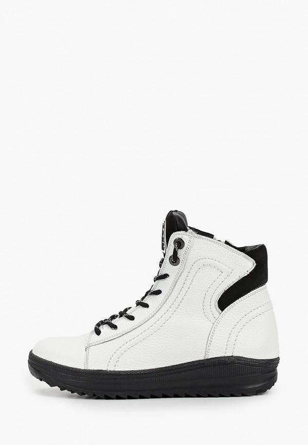 женские высокие ботинки shoiberg, белые