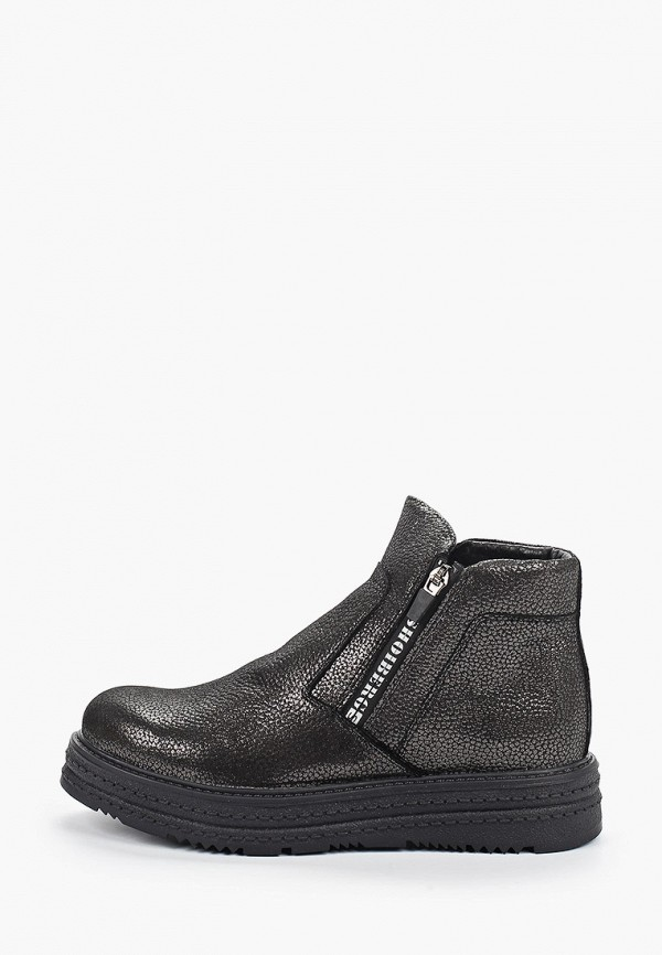 женские высокие ботинки shoiberg, серые