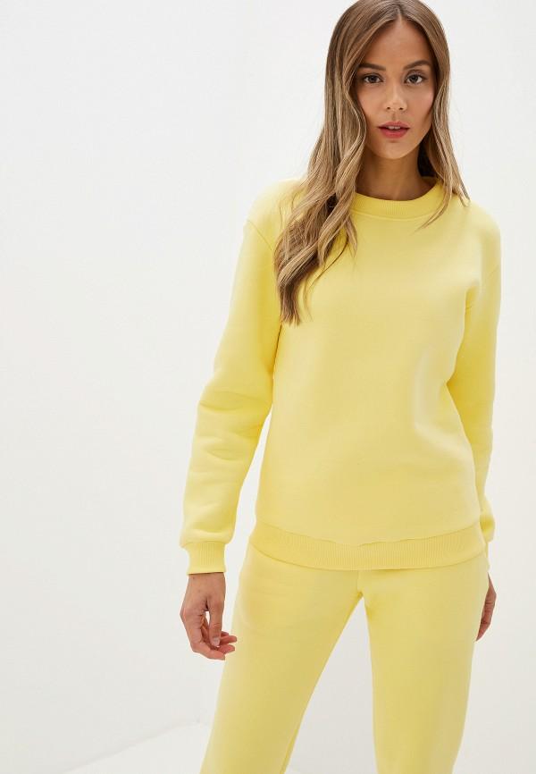 женский свитшот imago, желтый