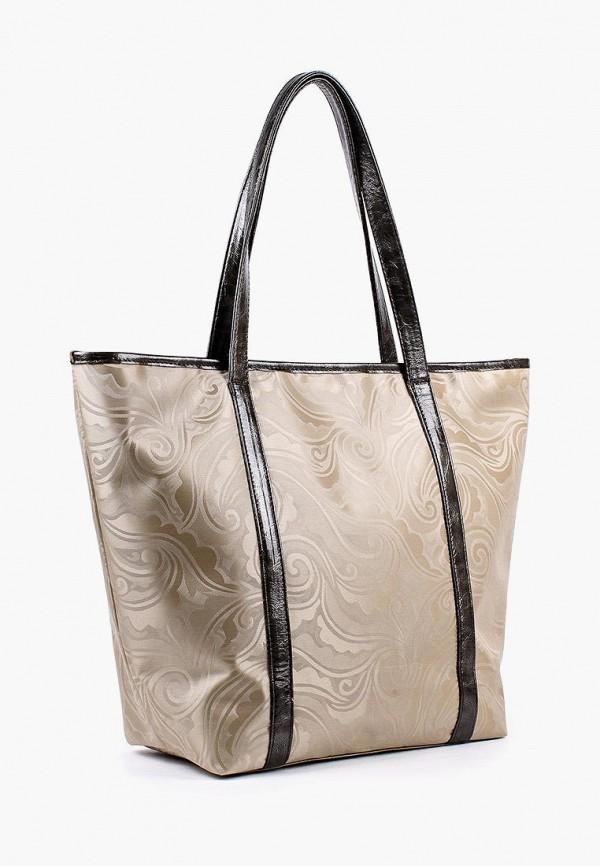 Фото 2 - Женскую сумку Медведково золотого цвета