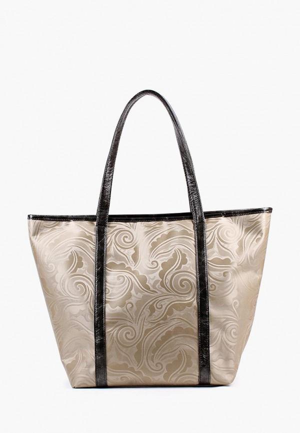 Фото 3 - Женскую сумку Медведково золотого цвета