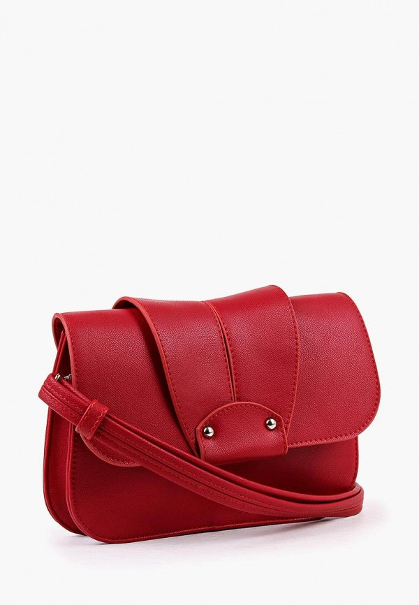 Фото 2 - Женскую сумку Медведково красного цвета