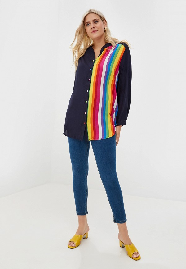 Фото 2 - Женскую блузку Артесса синего цвета