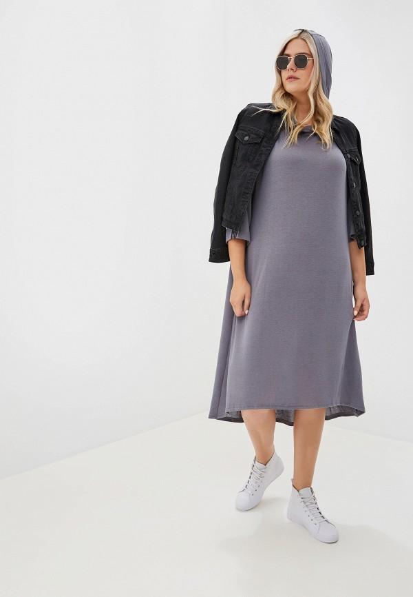Фото - Женское платье Артесса серого цвета