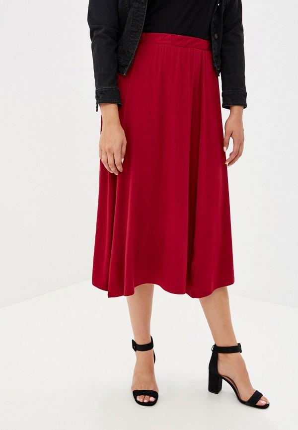 женская юбка артесса, бордовая