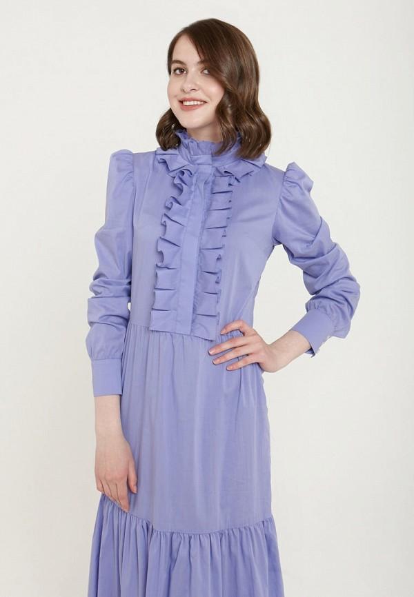 Фото 2 - Женское платье Ли-лу фиолетового цвета