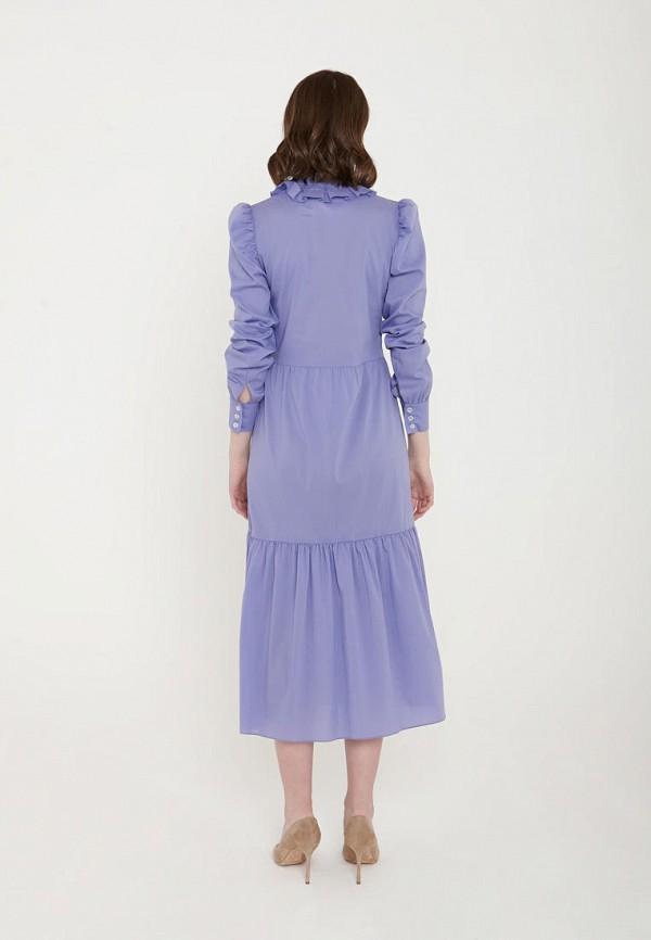 Фото 3 - Женское платье Ли-лу фиолетового цвета