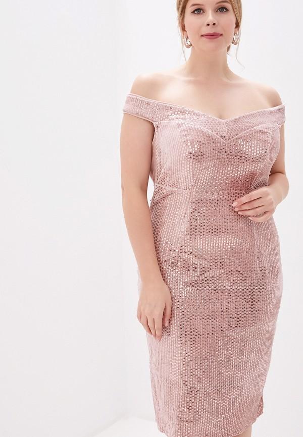 женское платье milomoor, розовое