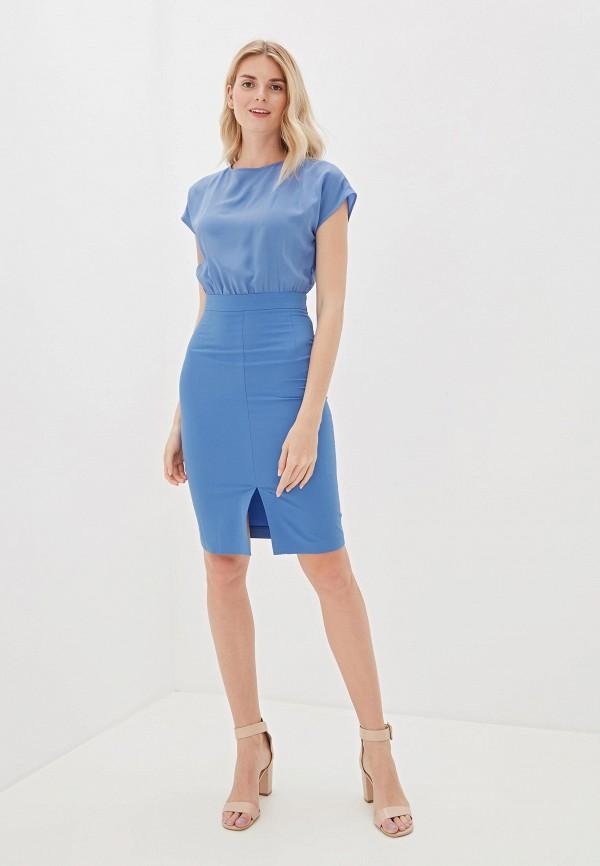Фото 2 - Женское платье Vittoria Vicci голубого цвета