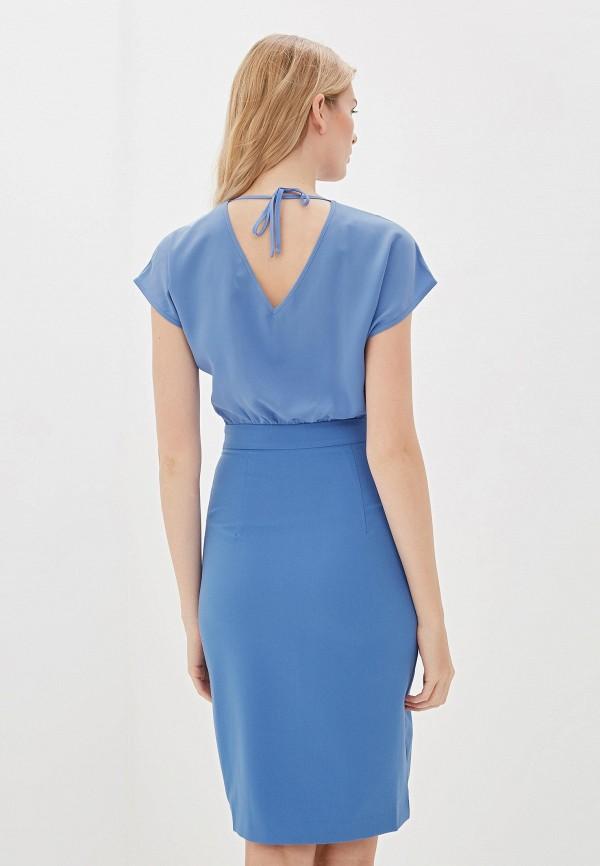 Фото 3 - Женское платье Vittoria Vicci голубого цвета