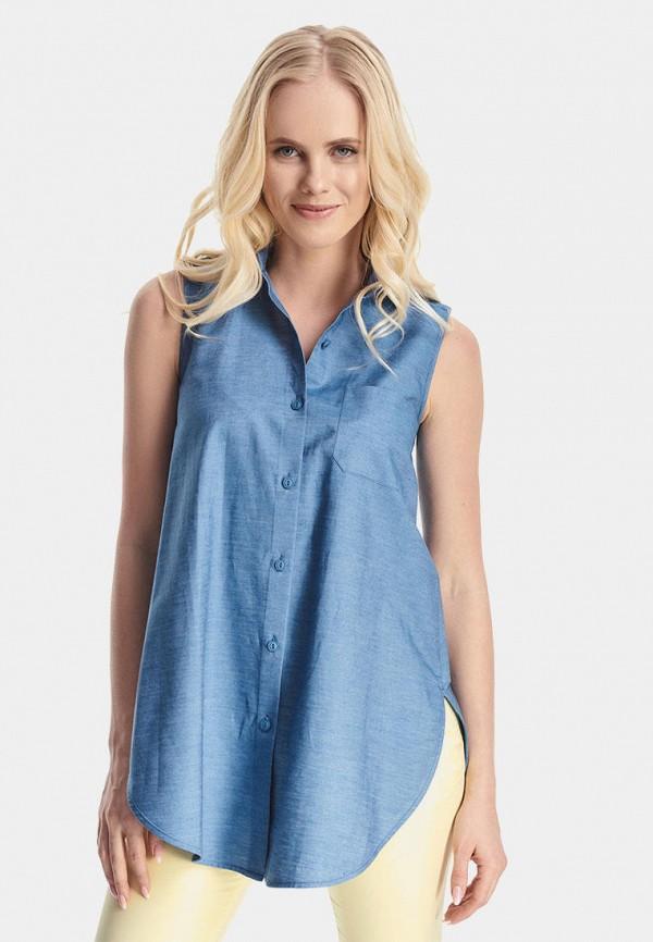 женская блузка natali bolgar, синяя