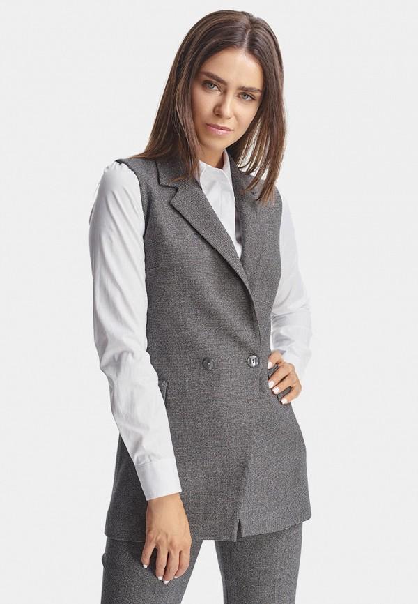женский жилет natali bolgar, серый