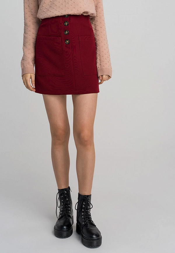 женская юбка befree, бордовая
