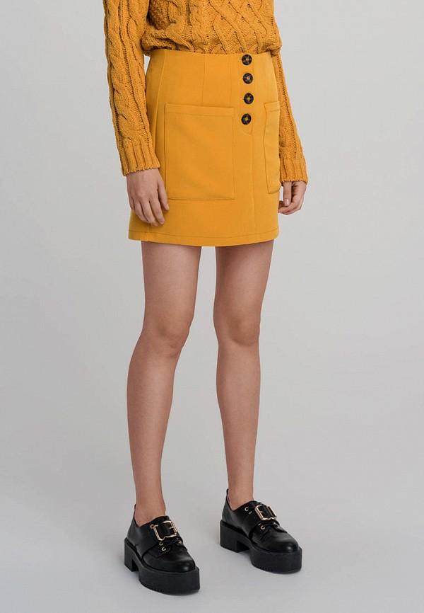женская юбка befree, желтая