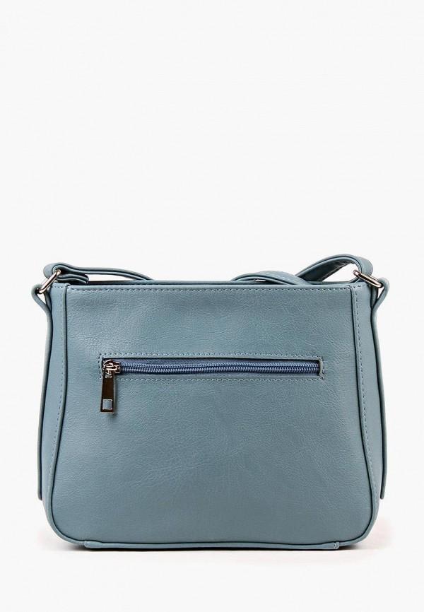 Фото 3 - Женскую сумку Медведково голубого цвета