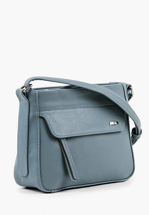 Фото 2 - Женскую сумку Медведково голубого цвета