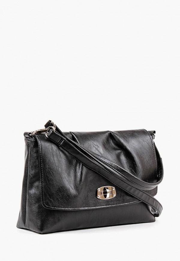 Фото 2 - Женскую сумку Медведково черного цвета
