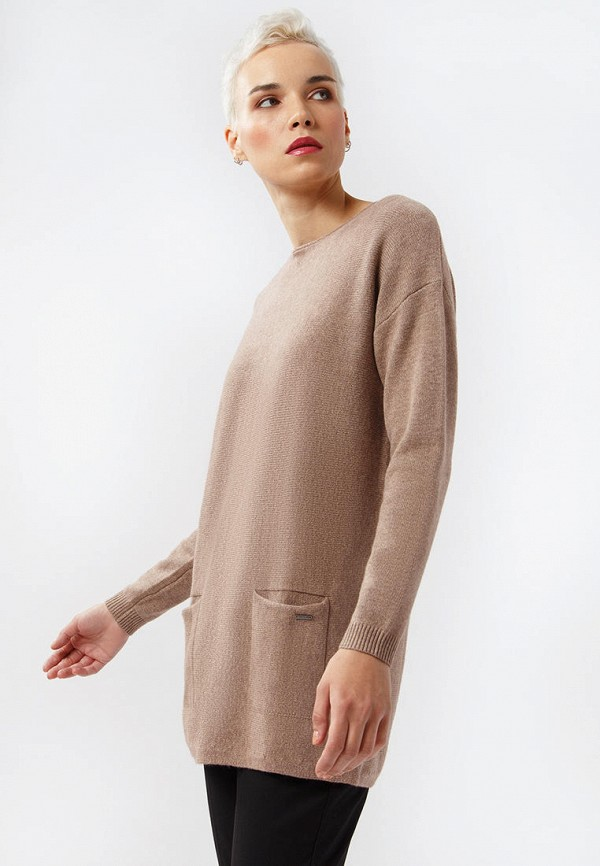 Фото 4 - Женскую тунику Finn Flare коричневого цвета
