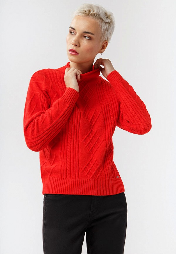 Фото - Женский свитер Finn Flare красного цвета