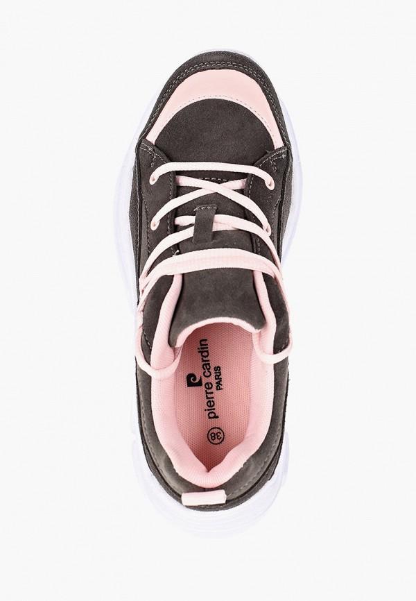 Фото 4 - Женские кроссовки Pierre Cardin серого цвета