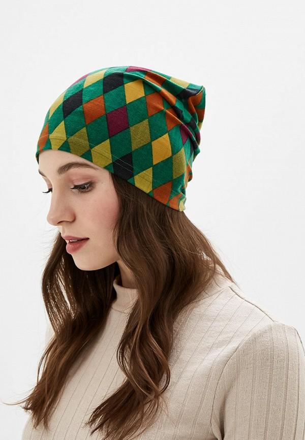 Фото 3 - Женскую шапку Sahera Rahmani разноцветного цвета