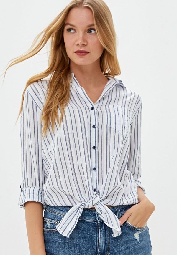 женская блузка с длинным рукавом colin's, голубая