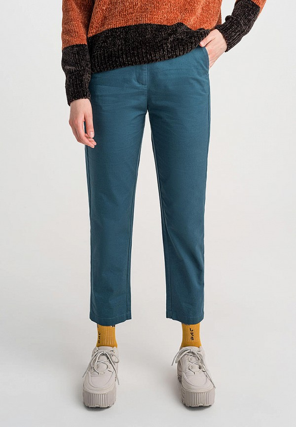 женские брюки befree, бирюзовые