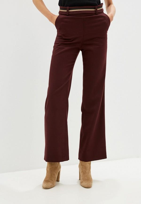 женские повседневные брюки aylin stories, бордовые