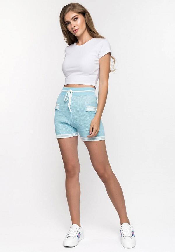 Фото 2 - Женские шорты Clever woman studio голубого цвета