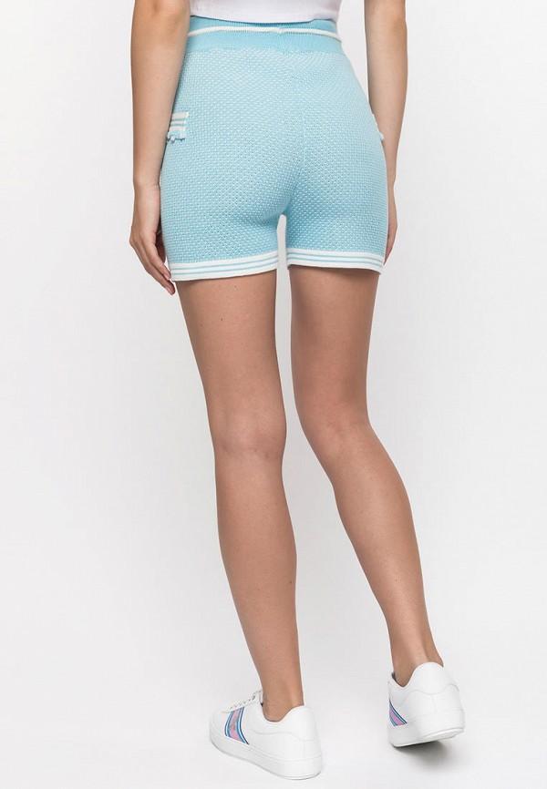 Фото 3 - Женские шорты Clever woman studio голубого цвета