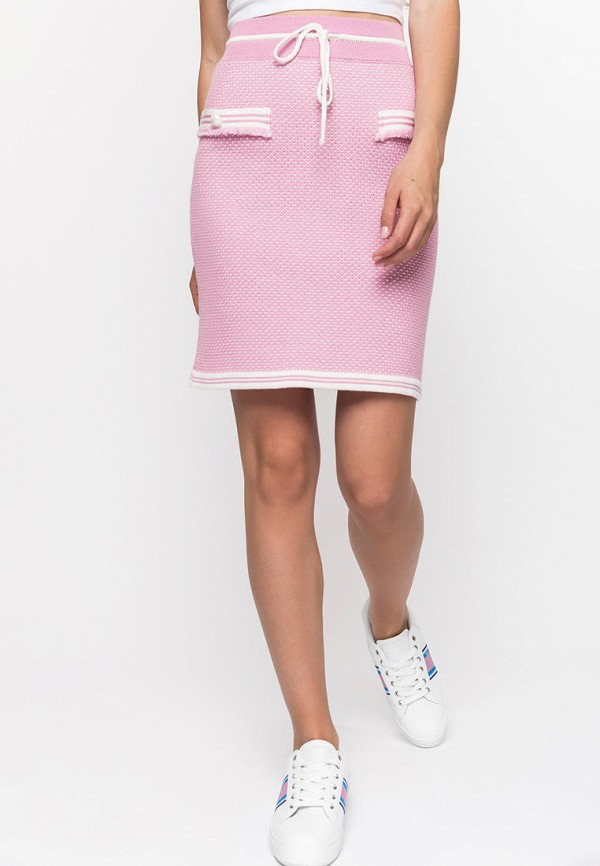 Фото - Женскую юбку Clever woman studio розового цвета