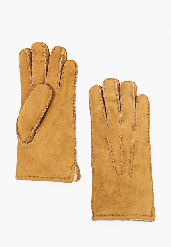 женские кожаные перчатки vitacci, коричневые
