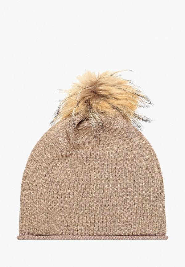 женская шапка vitacci, бежевая