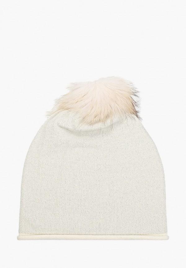 женская шапка vitacci, серебряная