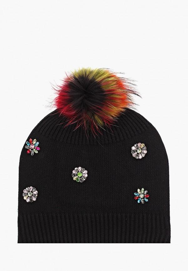 женская шапка vitacci, черная