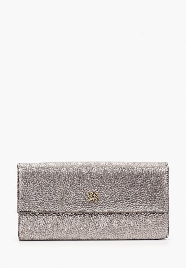 женский кошелёк vitacci, серебряный