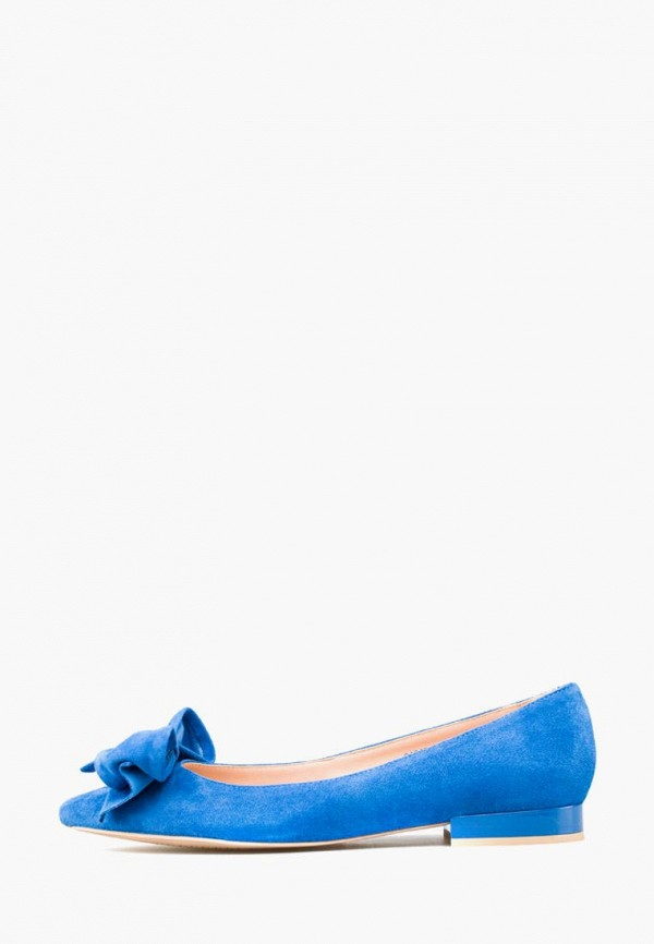 женские балетки giotto, голубые