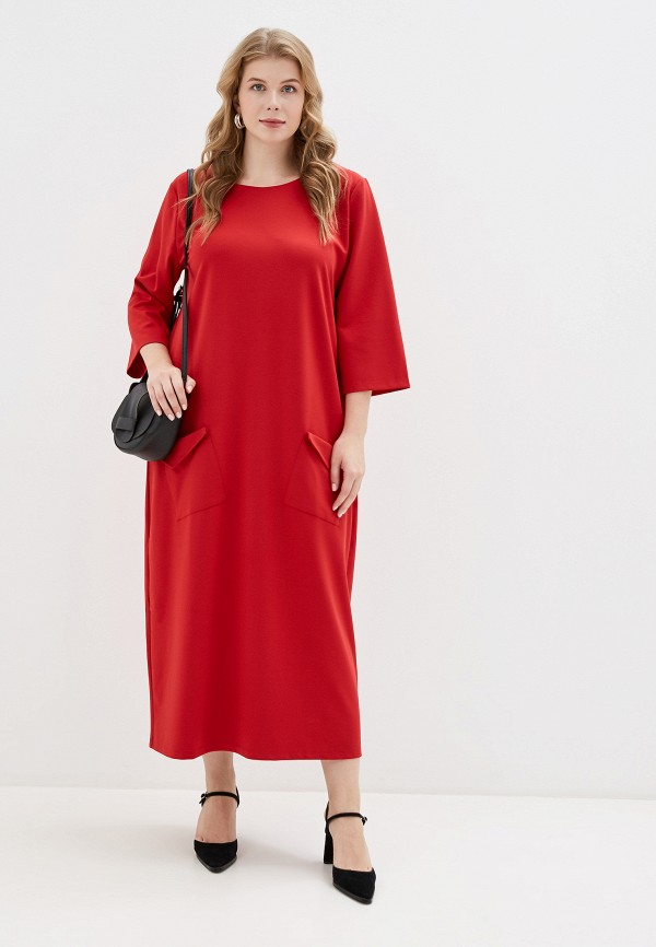 женское платье chic de femme, красное