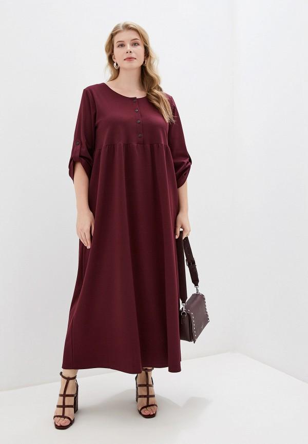 женское платье chic de femme, бордовое