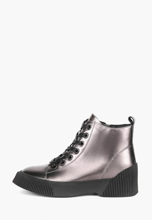 женские ботинки lisette, серебряные